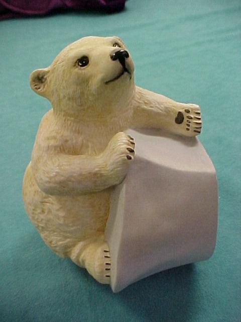 Franklin Porcelain 1982 BRRRR ! Polar Bear Cub Ice Berg