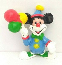 Disney Mickey Mouse Clown 2in PVC Figure Applause Used - $14.00