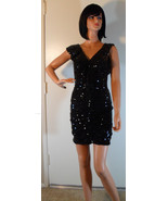 NWT MARK & JAMES Badgley Mischka Black Sequin Dress Sz Small NEW (MAKE A... - $196.02