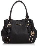 NWT MICHAEL MICHAEL KORS Bedford Large East/West Black Leather Satchel   ($428) - $278.00