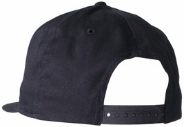NEW LEVI'S MEN'S FLATBRIM EMBROIDERED SOLID BASEBALL SNAP BACK CAP HAT BLACK image 2