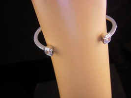 Henri Bendel Bracelet - pave Cuff bangle - signed couture jewelry - 12kt... - $110.00