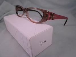 Christian Dior Eyeglass Frames CD3166 5PV Brown Gold Full Plastic Flower - $35.96