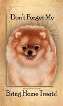 Pomeranian Pom Dog Please Bring Home Treats! Aluminum Luggage Tag - $9.95