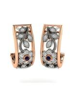 10 K Rose Gold 1/3 CT Natural Diamond Hoop Earring I1-GH Quality for women  - $481.99