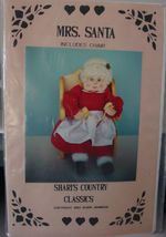 Christmas Wood Pattern Painted and Cloth Mrs Santa & Chair - $5.00