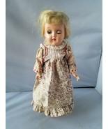 Ideal Doll Vintage Blonde Hair Green Eyes Hard Plastic Doll Toy Dress - $69.79