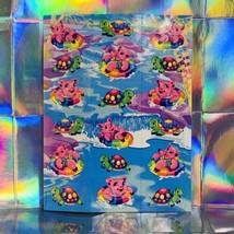 Lisa Frank Pig Piggie River Fun Complete Sticker Sheet S386 Vintage 90s