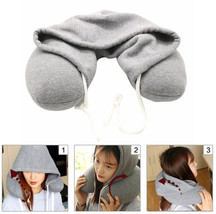 Car Travel Sleeping Hoodied Pillow U-Shape Neck Soft Headrest Outdoor Of... - $29.37
