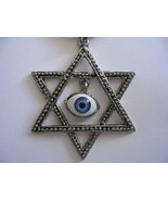 Huge child Star of David evil eye protection necklace from Israel GREAT ... - £6.11 GBP