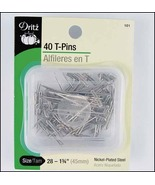 "T-Pins 40/pkg  1.75"" long needlepoint fabric sewing cross stitch accessory  - $4.00"