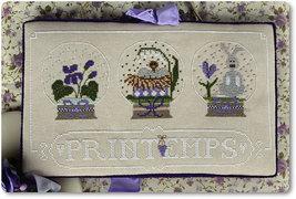 Printemps cross stitch chart Madame Chantilly - $11.70