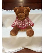 """Aeropostale 13"""" Seated Teddy Bear in Red, Removable Hoodie - $28.99"""