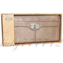 FOSSIL Maddox Zip Clutch in TAUPE Brand New in Box NWT - $65.33