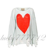 WILDFOX WHITE Label BIANCA Jagger-Lennon Sweater in Sky BLUE SIZE S Bran... - $176.22