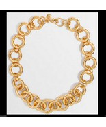 JCREW GOLD PLATED LINK NECKLACE Comes in J crew  Bag New with Tag 100% Real - $48.26