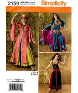 Simplicity 2159 Misses' Arabian Belly Dance Dress Costume Pattern 6-12 - $12.99