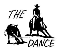 "CUTTING HORSE ""THE DANCE""  6X5, HORSE  DECAL, STICKER - $6.50"