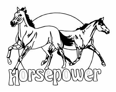 HORSEPOWER, HORSE DECAL, HORSE STICKER,WINDOW DECAL.
