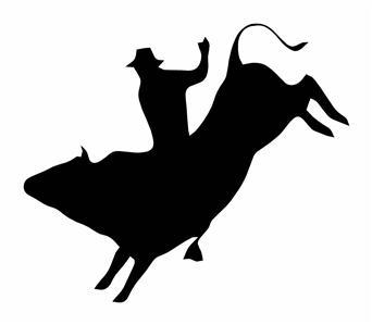 BULL RIDER 6x7in DECAL ,FOR WINDOW ,TRUCK,TRAILER.ECT.