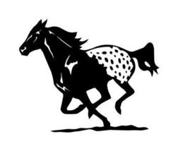 RUNNING APPALOOSA HORSE 8x10in  HORSE DECAL, STICKER - $9.99