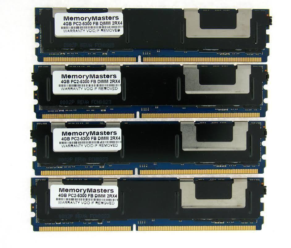 16GB NOT FOR PC 4X4GB DDR2 MEMORY RAM PC2-5300 ECC FBDIMM DIMM QUAD RANK NEW