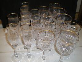 20 PIECE SET MIKASA GOLD CROWN CRYSTAL GLASSWARE~~RARE SET - $194.95