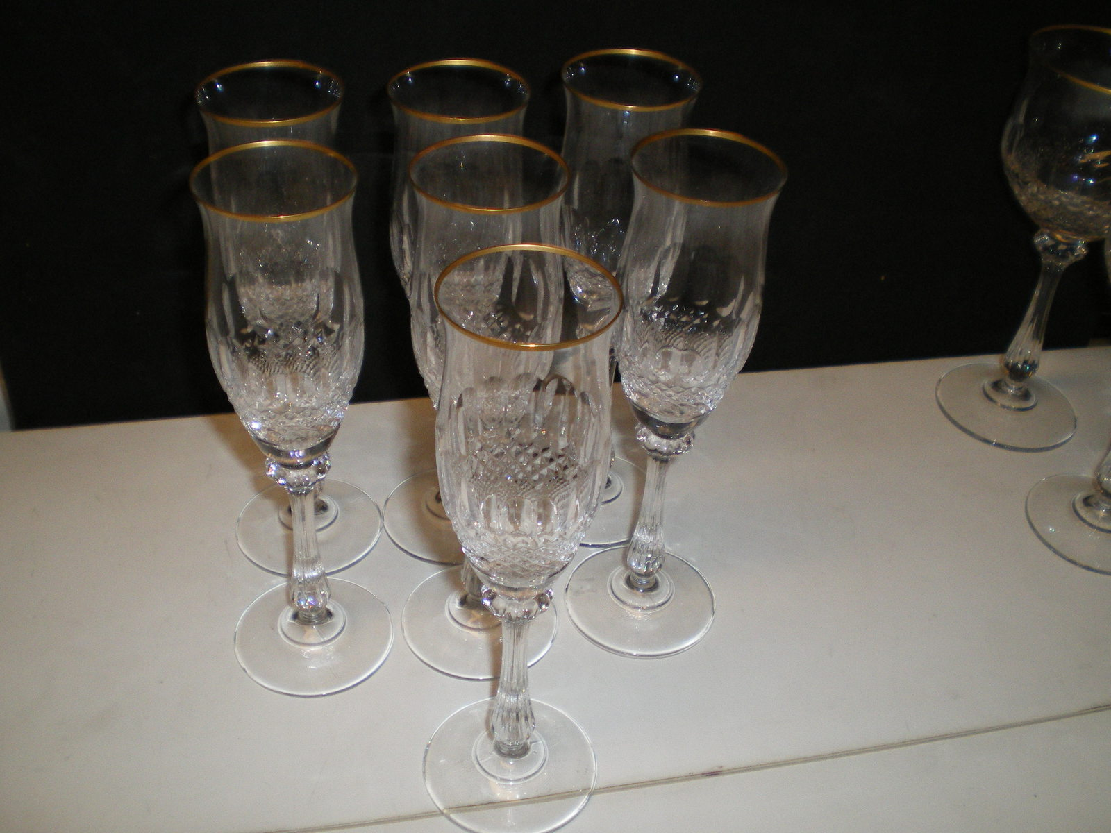 20 PIECE SET MIKASA GOLD CROWN CRYSTAL GLASSWARE~~RARE SET