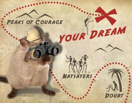 Funny Gerbil Inspirational Card: Dream Map - $5.00
