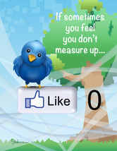 Funny Twitter & Facebook Inspirational Card: Measuring Up - $4.25