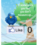 Funny Twitter & Facebook Inspirational Card: Measuring Up - $5.00