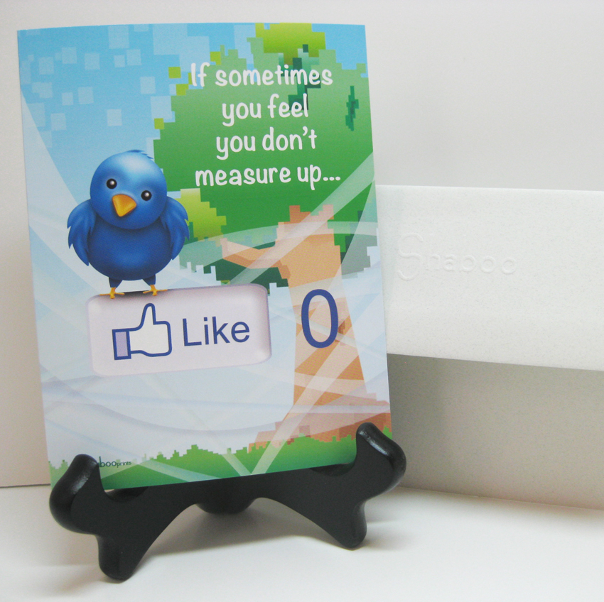 Funny Twitter & Facebook Inspirational Card: Measuring Up