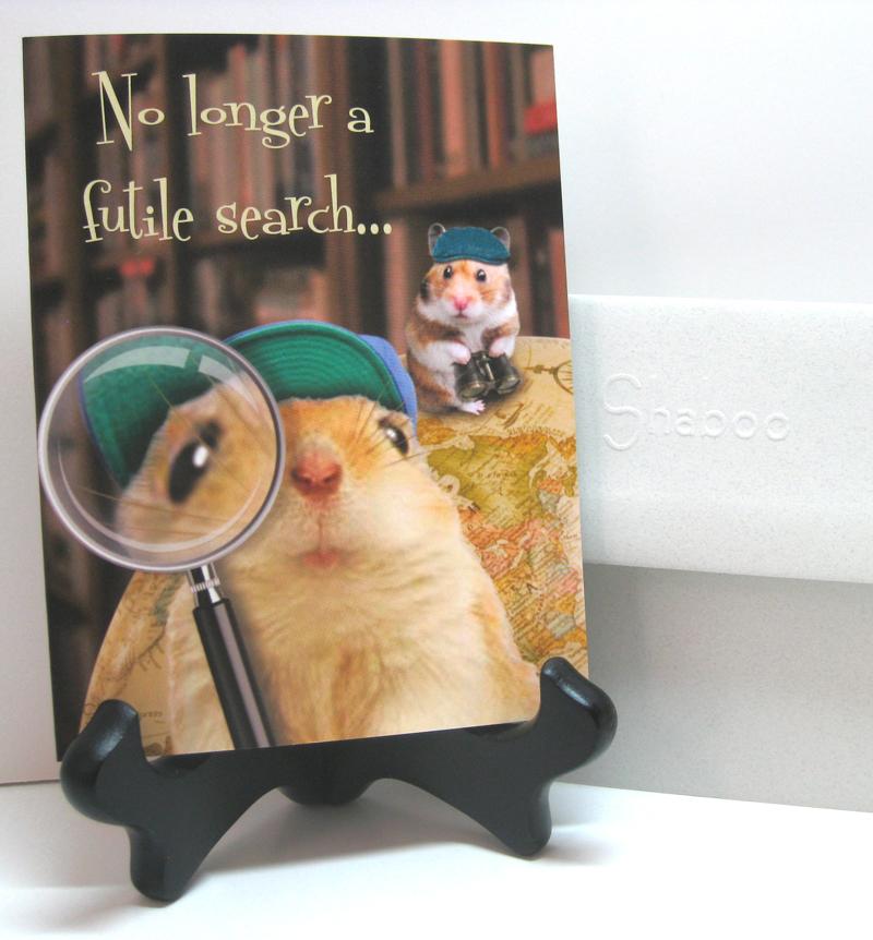 Funny Hamster Birthday Card: Homo Sapien Extraordinaire