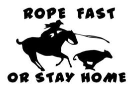 COWGIRL ROPER  ROPE FAST  HORSE DECAL  RODEO 7.5X12 in - $9.99