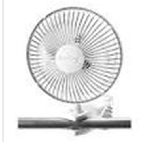 "2-Speed Comfort Personal 6"" Desk Cooling Adjustable Light Portable Clip-on Fan"
