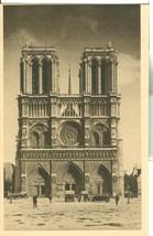 France, Paris, Front of Church Notre-Dame, 1930s unused Postcard  - $4.99