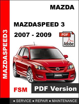 2007 mazda 3 service manual