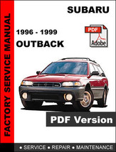 SUBARU OUTBACK 1996 - 1999 FACTORY SERVICE REPAIR WORKSHOP MAINTENANCE M... - $14.95