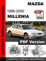 Mazda Millenia 1996   2000 Factory Service Repair Workshop Shop Oem Fsm Manual - $14.95