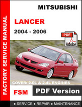 Mitsubishi Lancer 2004   2006 Factory Service Repair Workshop Oem Fsm Manual - $14.95