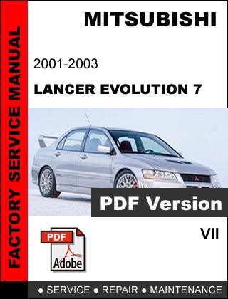 Mitsubishi Lancer Evo Evolution Vii 2001 2003 Factory