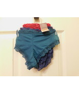 Secret Treasures Cheeky Panties 3 Pair Size X-SMALL  Micro Lace Green Na... - $14.54