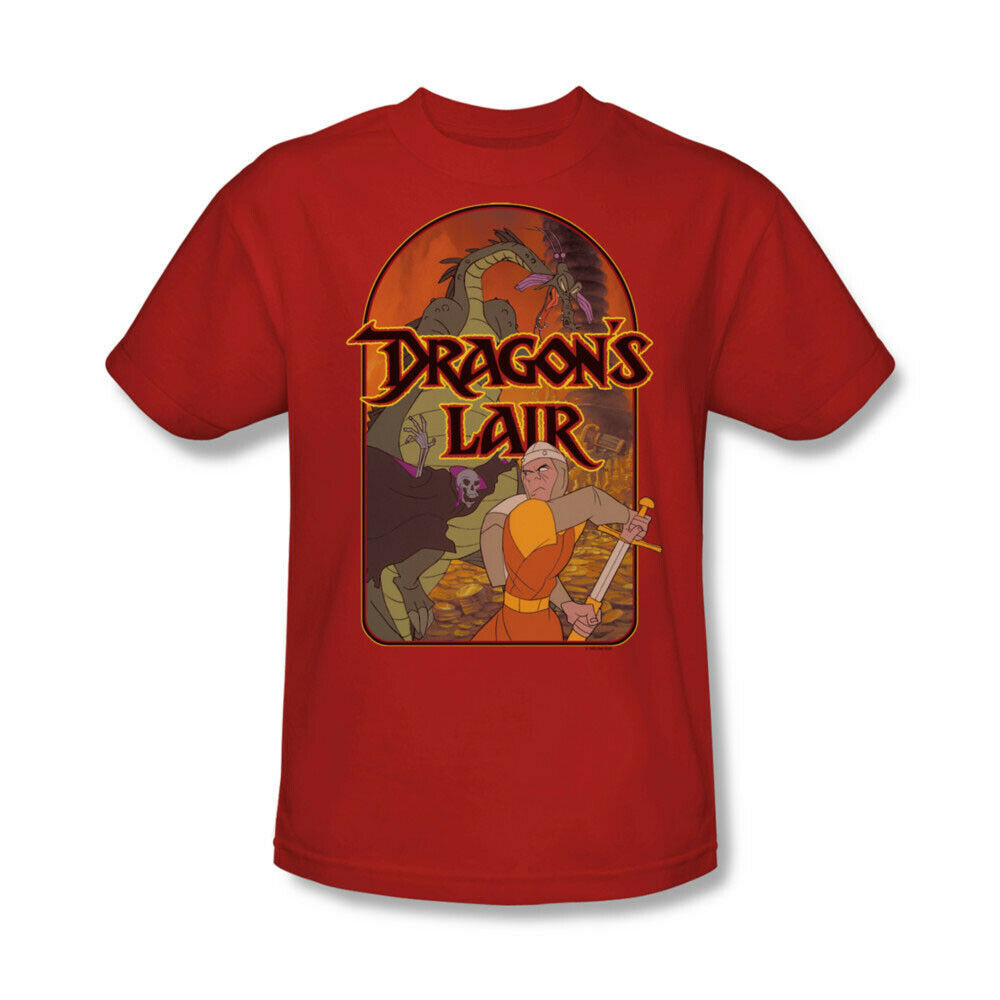 Dragons Lair t-shirt classic arcade video game cartoon graphic tee DRL101