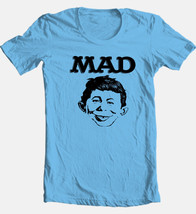 MAD T-shirt magazine distressed Alfred Newman 1980s cartoon cotton printed tee image 1