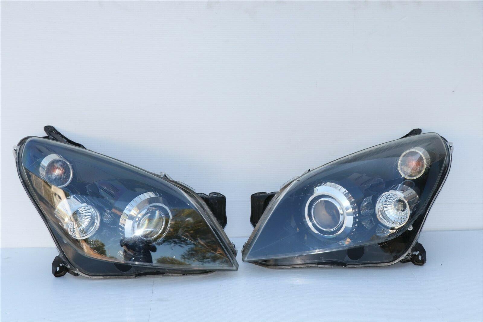 08-09 Saturn Astra Headlight Head Light Lamps SET L&R =>POLISHED