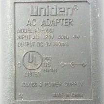 Uniden AC Adapter Model AD-0001 Output 9VDC 210mA - $9.49