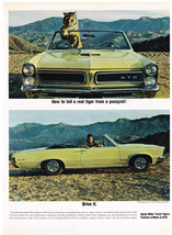 Vintage 1964 Magazine Ad for Pontiac LeMans & GTO a Snarling 335-hp or 360-hp - $5.93