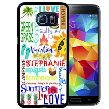 PERSONALIZED CASE FOR SAMSUNG S9 S8 S7 S7 S6 PLUS RUBBER SUMMER FUN TYPO... - $13.98