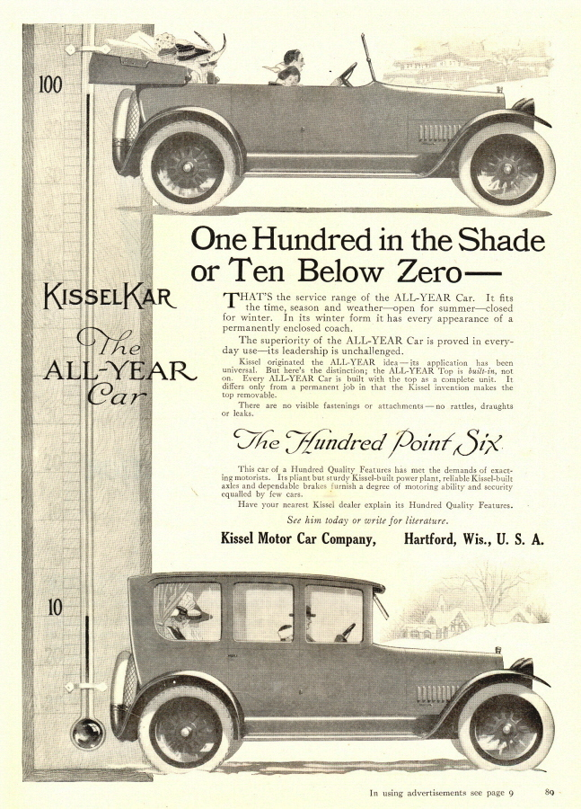 1942 Hartford Kissel Motor Co. Vintage Car print ad