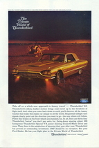 1965 Ford Thunderbird with Helicopter luxury travel print ad - $10.00